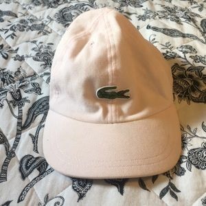 Blush pink Lacoste ball cap